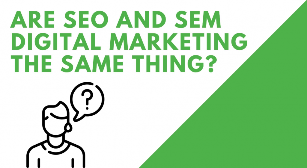 Are SEO and SEM Digital Marketing The Same Thing?
