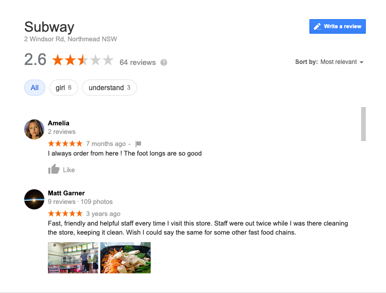 GMB Reviews Google My business